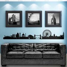London Skyline GIGANTE Casa Murale Vinile Muro ARTE Adesivo-Camera da Letto-Salotto