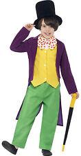 Willy Wonka Smiffys CHARLIE fabbrica di cioccolato Roald Dahl Libro Settimana Costume