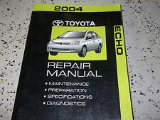 2004 TOYOTA ECHO Service Shop Repair Workshop Manual VOLUME 1 NEW