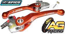 Apico Flexi Lever Set Orange Clutch Lever Brake Lever For KTM SX 85 2003-2012