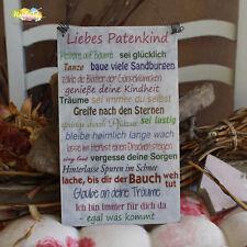 Shabby Style -Liebes Patenkind - Ich- Holzschild Geschenk Dekoration HandsArt