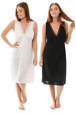 Ladies womens full slip petticoat anti-static under dress
