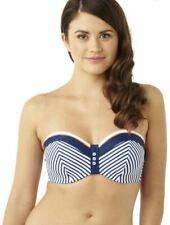 Panache Cleo Lucille Bandeau Top CW0063 Navy/Coral Stripe
