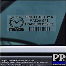 5 x Mazda GPS Tracking Device Security Stickers-MX5 CX5,BLACK,Car Alarm Tracker