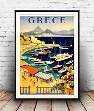 Grece : Vintage Greek Travel advert, Wall art , poster, Reproduction.