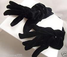 Black velvet gloves party mardi gras costume long Icing