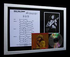 BOB MARLEY Roots, Rock, Reggae LTD CD MUSIC FRAMED DISPLAY+EXPRESS GLOBAL SHIP!!