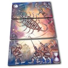 Zodiac Scorpio  Starsign TREBLE TOILE murale ART Photo Print