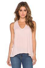 BCBG Max Azria Women Eileen Soft Pink Tank Top High low Tee T-shirt  XS,S,M,L