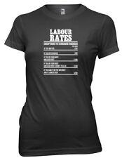Labour Rates Builder Brickie Labourer Funny Womens Ladies T-Shirt