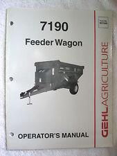 1997 GEHL 7190 FEEDER WAGON OPERATOR'S MANUAL