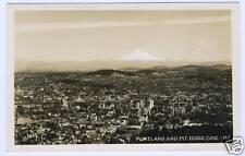 Old Real Photo Postcard RPPC Portland and Mt Hood Oregon 1940's