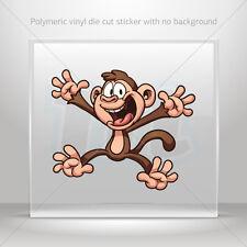 Stickers Sticker Cartoon Happy Monkey Car Atv Bike Garage bike st5 X46W9
