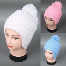 Pom-Pom Baby Hat Toddler Winter Knitted Ear Flap Cap Kids Beanies Children's Hat