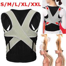 Posture Corrector Lumbar Lower Back Support Correct Waist Belt Vest Brace S-XXL