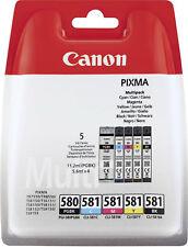 Genuine Canon PGI-580 Black & CLI-581 Black, Cyan, Magenta Available
