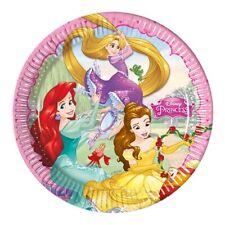 Disney Princess | Belle | Rapunzel 23cm Paper Party Dinner | Lunch Plates 1-48pk