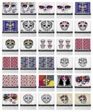 "Sugar Skull Kitchen Curtains 2 Panel Set Window Drapes 55"" X 39"" Ambesonne"