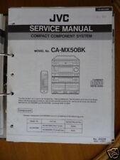 Manuale Dell'utente per JVC CA-MX50BK Ricevitore,ORIGINALE