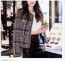 Womens Occident star Jacket Fall/winter elegant knitting makings short coat size