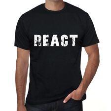 react Homme T-shirt Noir Cadeau D'anniversaire 00546