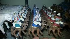PASTORI terracotta  3,5 CM  TRIS DI RE MAGI A CAMMELLO S.G ARMENO crib shepherds