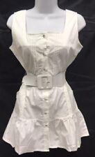 "Women's Puff Bottom  Sleeveless Button-Down Pleated Stretch Shirt  30"" long"