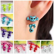 3D Fashion Personality Kitten Lot Color Ear Cat Animal Stud Drop Earrings Women