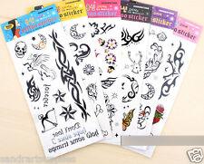Mix Pack Tribal & Cartoon tattoos, Cartoon Temporary Tattoo, Sexy Tattoo Art