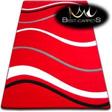 Modern Design Very Soft Rugs - FOCUS 8732 red - 160 x 220 cm - BIG SALE -70%