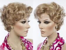 Best Quality Short Blonde Wavy Wig Skin Top Tapered BN