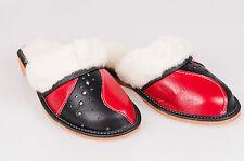 Lady Women Sheepskin 100% Leather Slippers Wool Shoes Size 3 4 5 6 7 8Flip-Flop