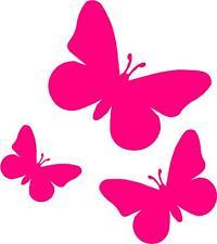 Farfalle Rosa Auto,Camper Adesivi Per Finestrino x 3