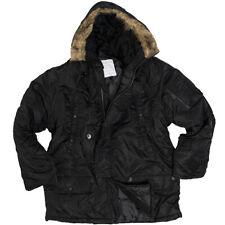 N3B Parka polaire noir XS-3XL Manteau d'HIVER avec capuchon de fourrure Veste