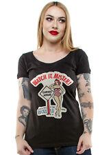 Authentic LUCKY 13 Watch it Juniors Scoop Neck T-Shirt S M L XL 2XL NEW