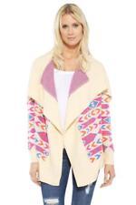 Torn by Ronny Kobo Marianne Tahoe Cardigan IVORY Multi Wool Sweater Jacket Knit