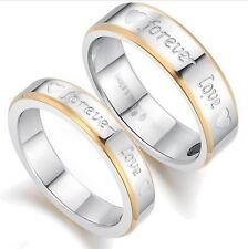 Bague, anneau magnétique Forever love, plaqué or, 4 ou 6 mm, multi tailles.