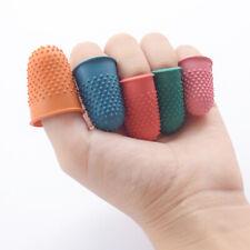 5Pcs Anti-slip Rubber Finger Tips Thimbles Protector Needlework Sewing Accessori