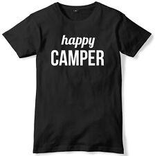 Happy Camper Mens Funny Unisex T-Shirt