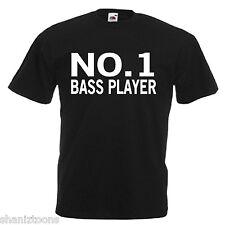 Número uno Bass Player Adultos Para Hombre T Shirt 12 Colores Talle S - 3xl