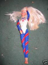 1996 Olympic gymnast Barbie doll red earrings