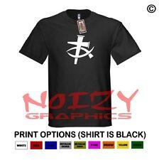 Cross Fish #3 Christian Shirt Black T-Shirt Jesus Tribal Faith Bible Religious