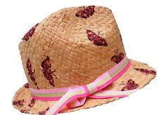 Cappello Bambino mädchetrilby PAGLIA NATURALE Protezione dal sole vacanza Garten