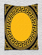 Greek Key Tapestry Sun Inspired Circle Print Wall Hanging Decor