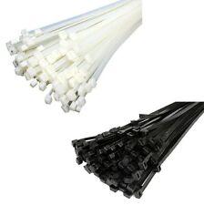 100 Stck = 1 Päckchen Kabelbinder SCHWARZ oder WEISS in 30 verschiedenen Größen