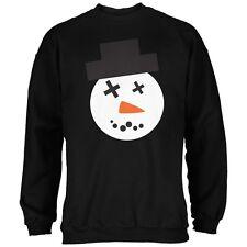 Snowman Face Ugly Christmas Sweater Black Adult Sweatshirt