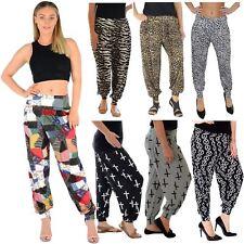 Impreso para mujer Holgado Elástico Cintura Elástica Pantalones Harén Pantalones Para Brazalete De Tobillo