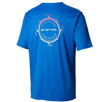 Mens Columbia Pfg Terminal Tackle Compass Short Sleeve S/S Fishing Shirt