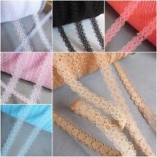 Estrecho Encaje Cinta De Adorno Bridal artesanía Vintage Wraping - 10 Mm De Ancho ✿ 10 Colores ✿