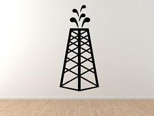 Industrial #8 - Oil Derrick Tower Fracking Spout Well  - Vinyl Wall Decal Art